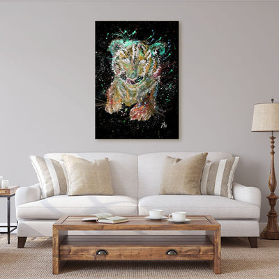 """Franklin"" Tiger Cub Enchanted Canvas Print"