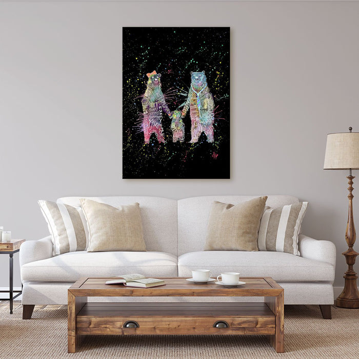 Mummy, Babby, Daddy Bears Enchanted Canvas Print