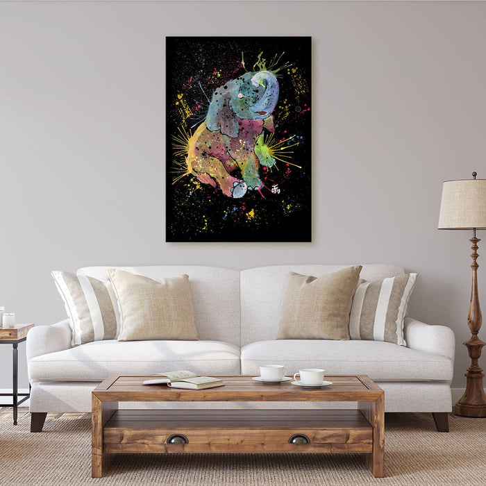 Baby Elephant Enchanted Canvas Print
