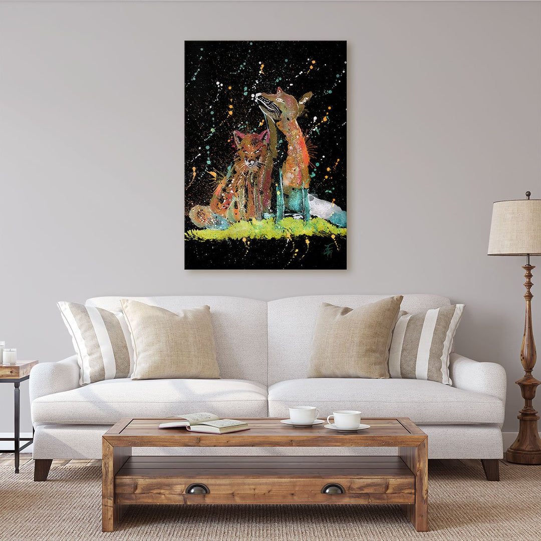 """Always Us"" Foxes Enchanted Canvas Print"