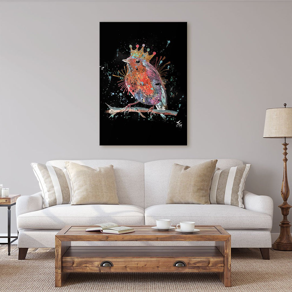 """Clancy"" Robin Enchanted Canvas Print"