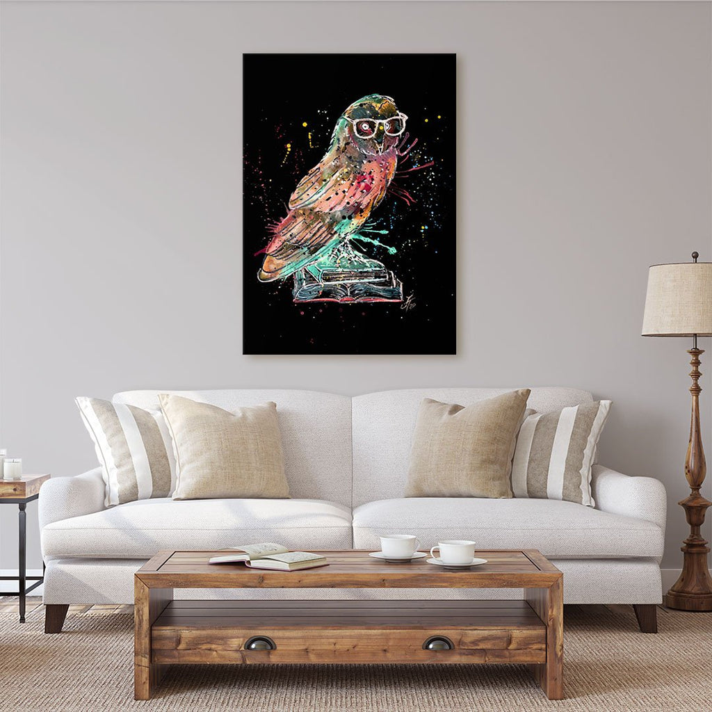 """Knowledge"" Owl Enchanted Canvas Print"