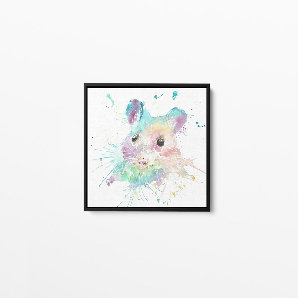 """Small"" Mouse Square Framed Canvas Print"