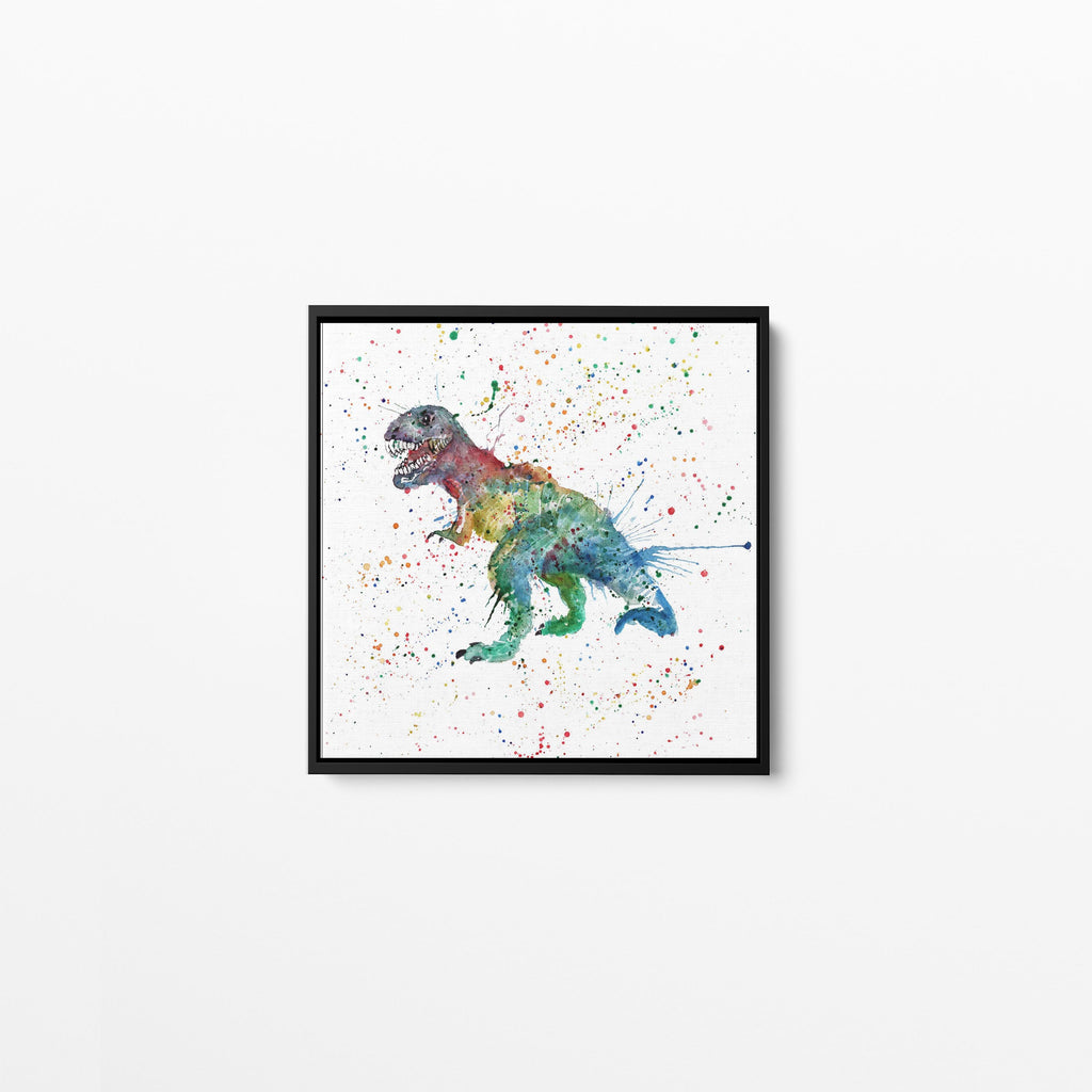 """Gary"" T-Rex Square Framed Canvas Print"