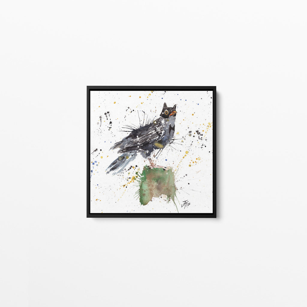 Blackbird Batman Square Framed Canvas Print