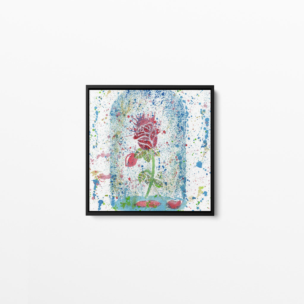 Magic Rose Square Framed Canvas Print
