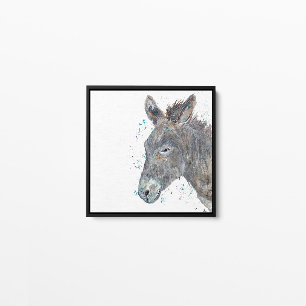 Dennis Donkey Square Framed Canvas Print