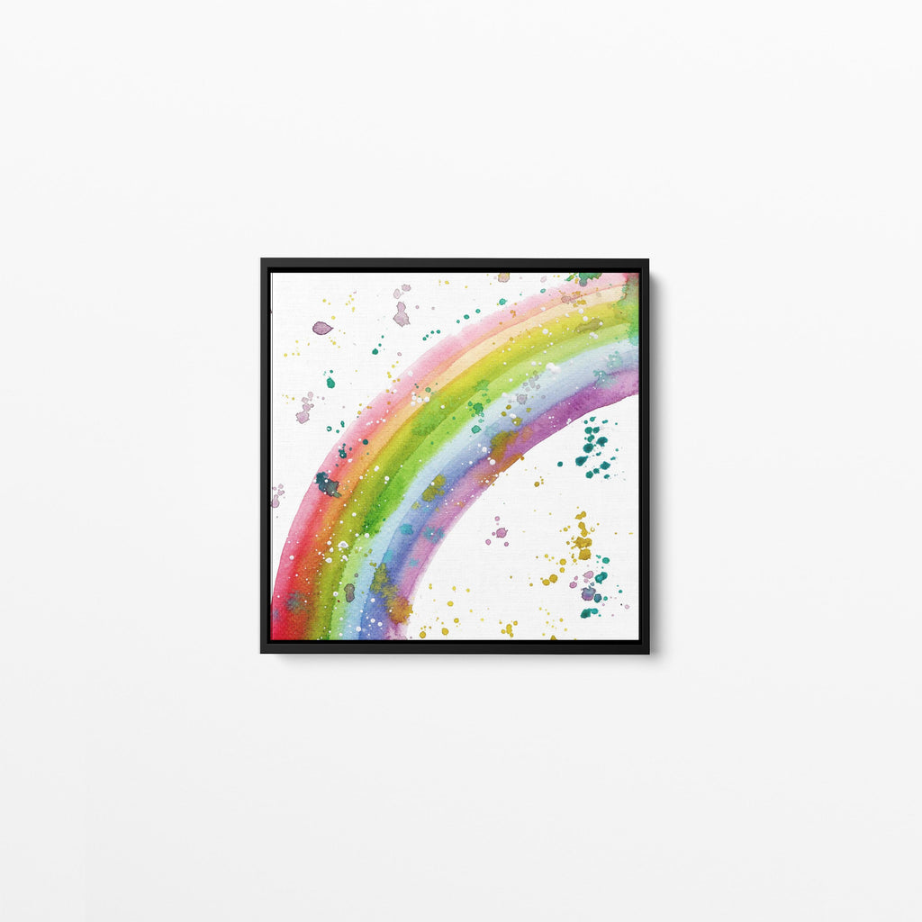 Rainbow Square Framed Canvas Print