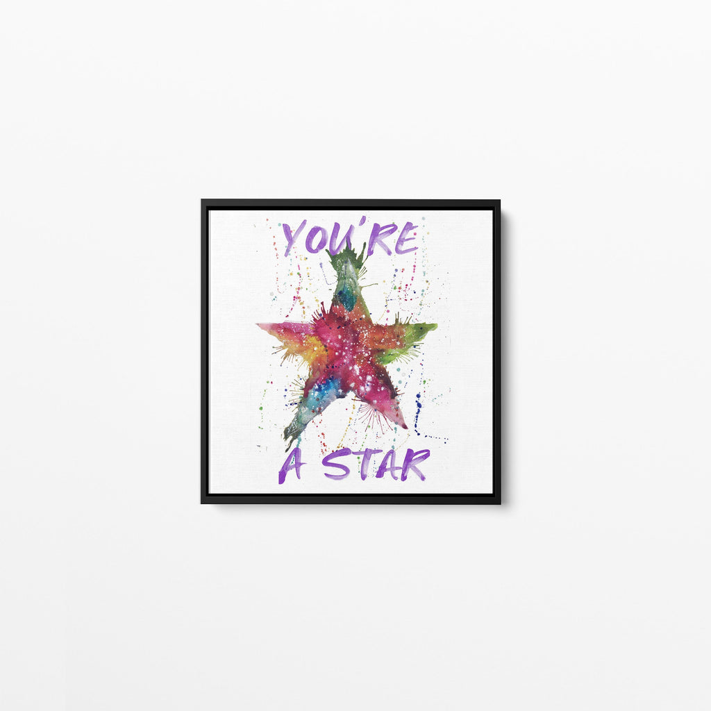 You're A Star! Square Framed Canvas Print