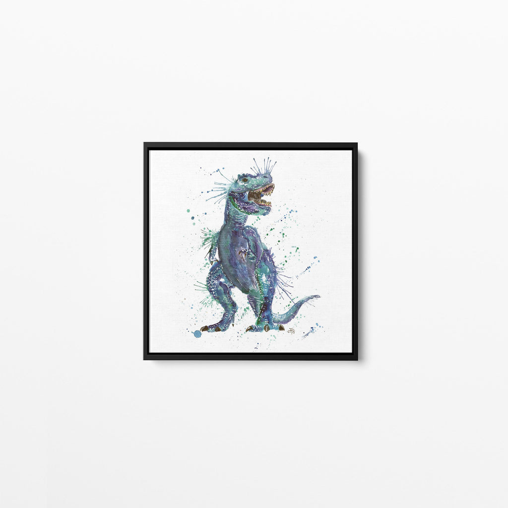 Rex Square Framed Canvas Print