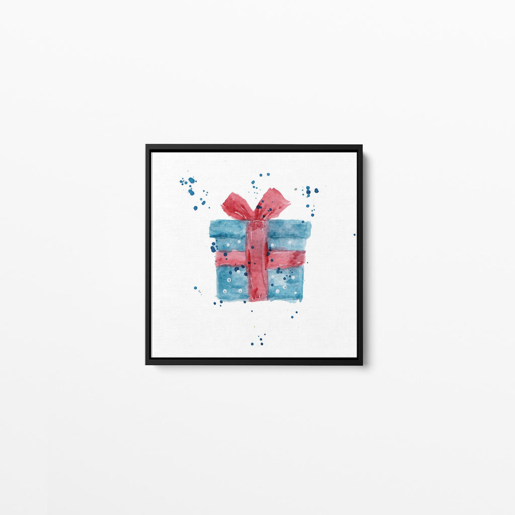 Christmas Present Square Framed Canvas Print