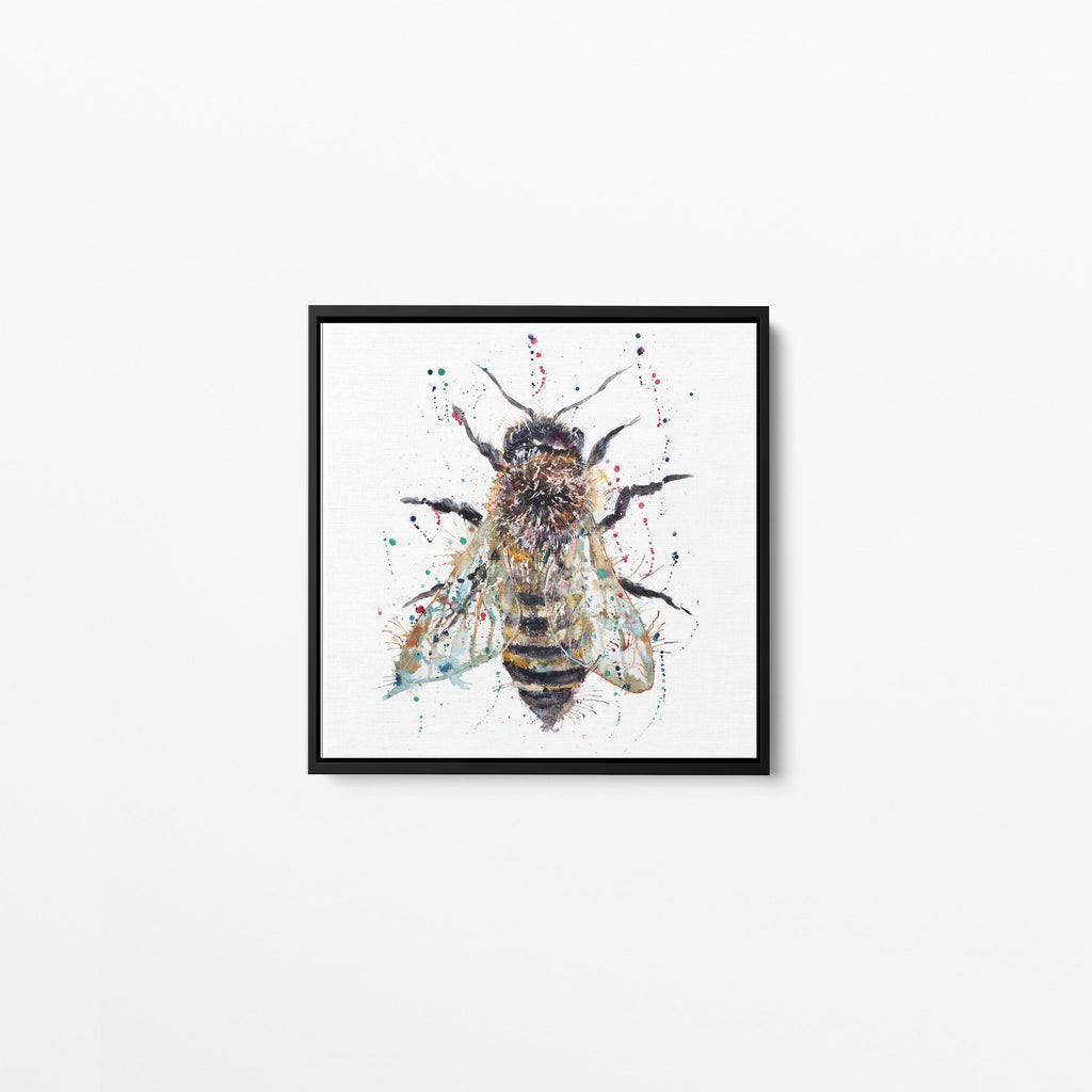 Honey Square Framed Canvas Print