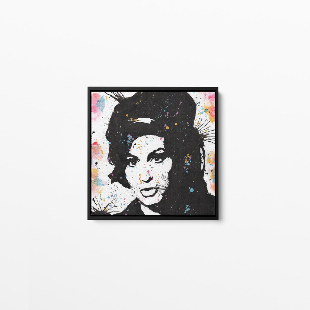 Amy Square Framed Canvas Print