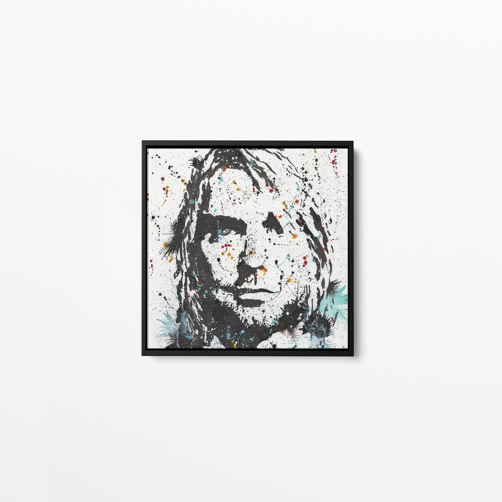 Kurt Square Framed Canvas Print