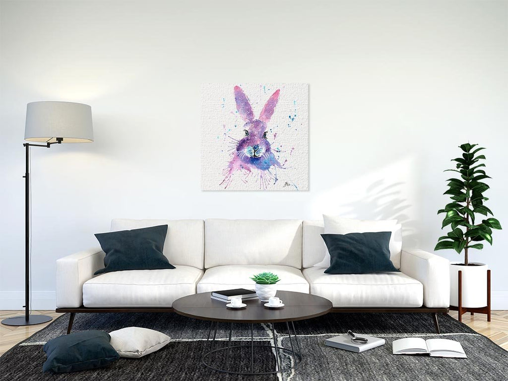 """Berry"" Hare Square Canvas Print"