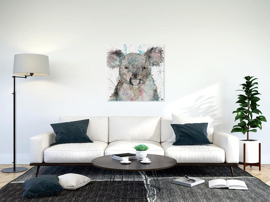 """Cookie"" Koala Bear Square Canvas Print"