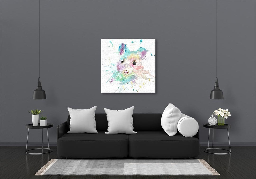 """Small"" Mouse Square Canvas Print"