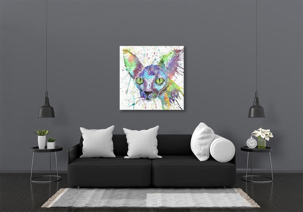 """Brian"" Sphynx Square Canvas Print"