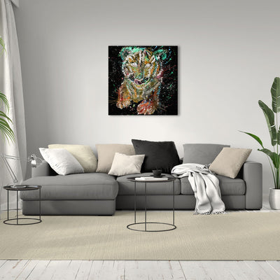 """Franklin"" Tiger Cub Enchanted Square Canvas Print"