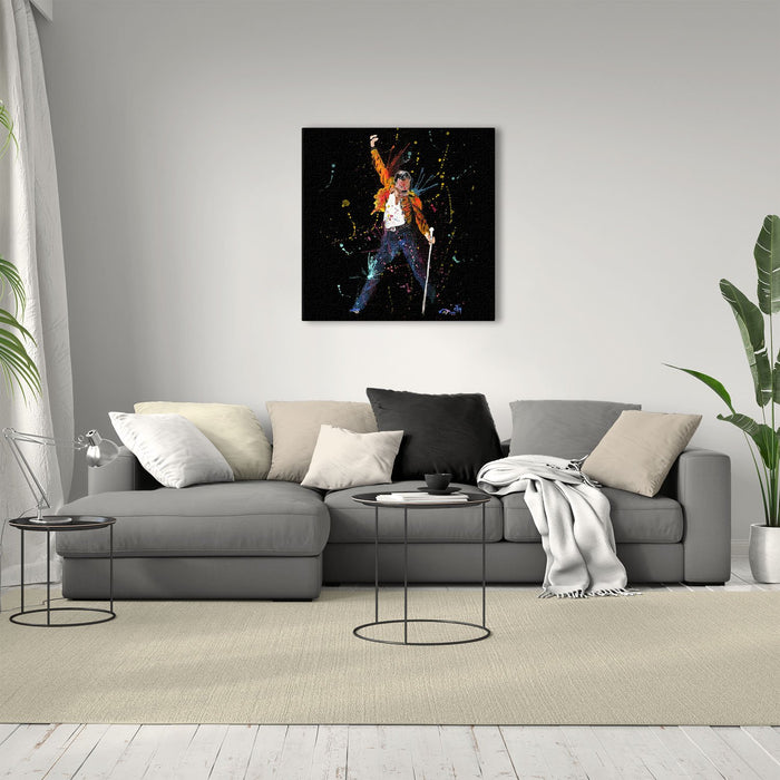 """Freddie"" Enchanted Square Canvas Print"