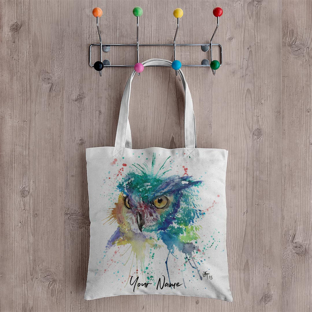 """Wise"" Owl Personalised Canvas Tote Bag"