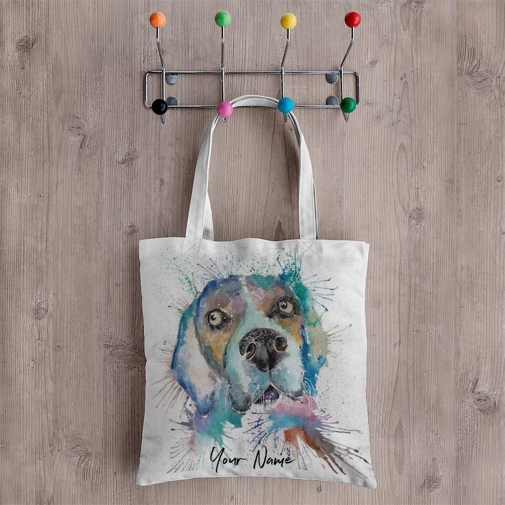 """Ralph"" Beagle Personalised Canvas Tote Bag"