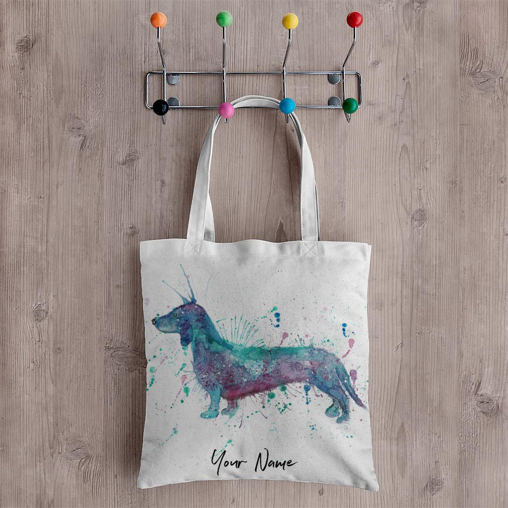 Mr Sausage Dog Personalised Canvas Tote Bag