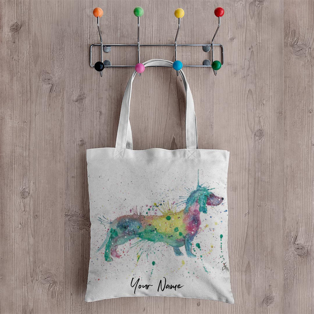 Mrs Sausage Dog Personalised Canvas Tote Bag