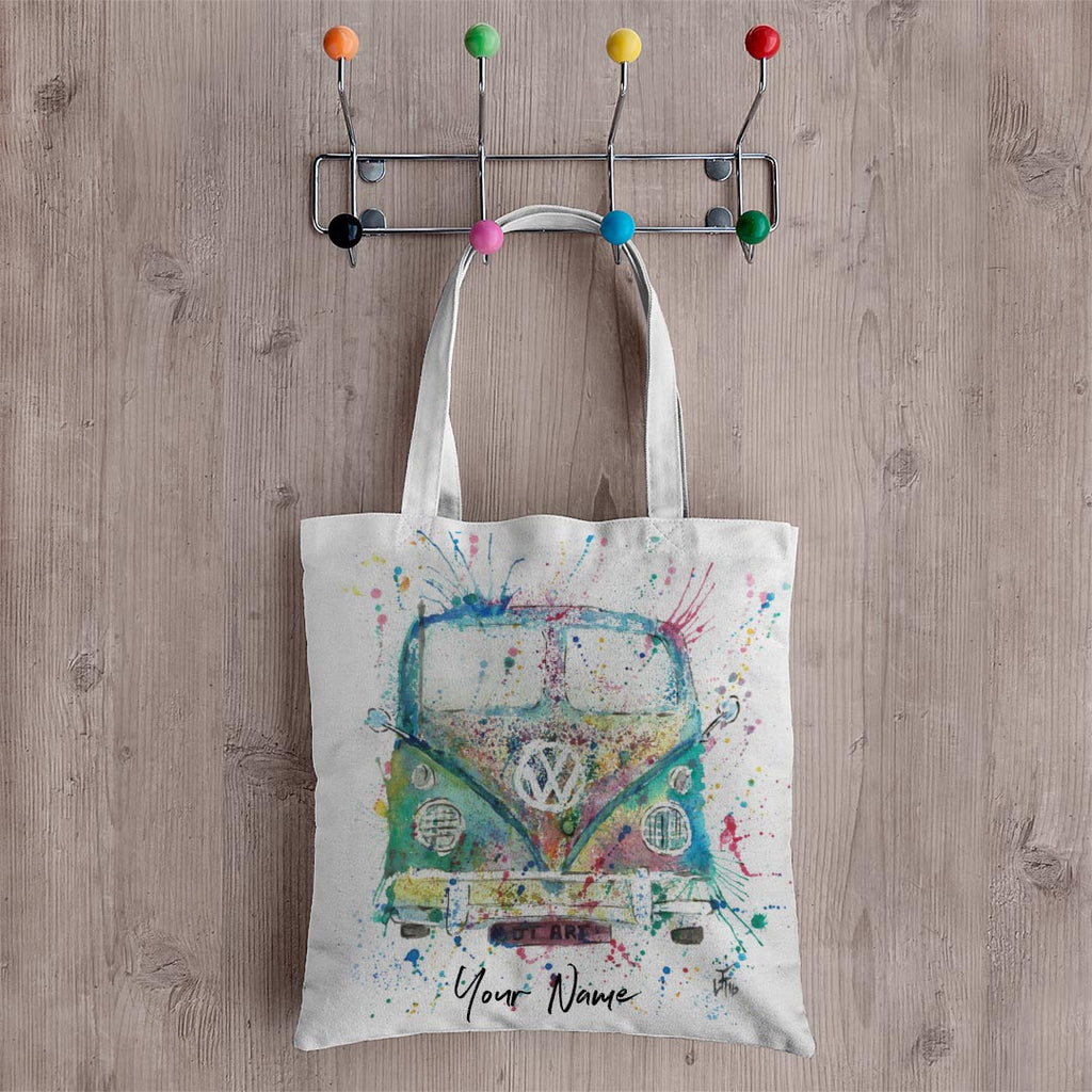 Camper Van Personalised Canvas Tote Bag
