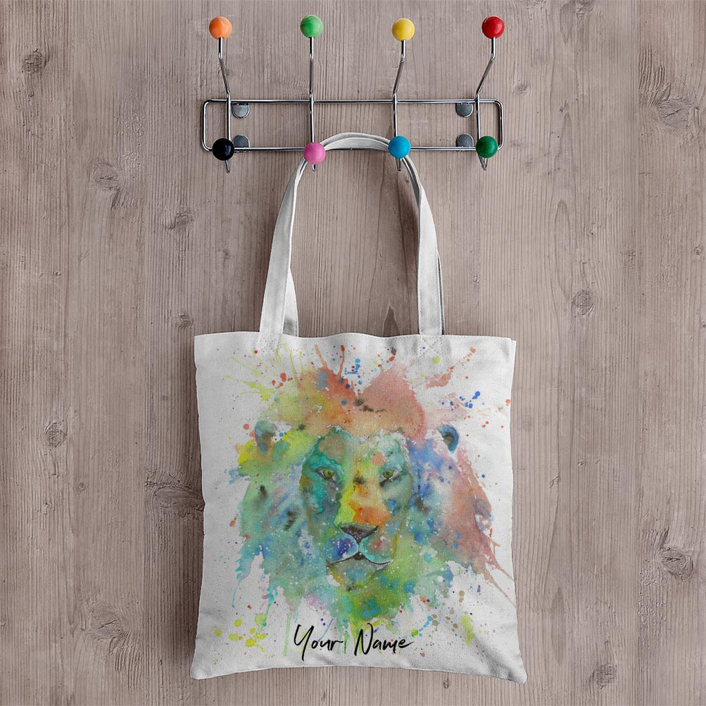 """King"" Lion Personalised Canvas Tote Bag"