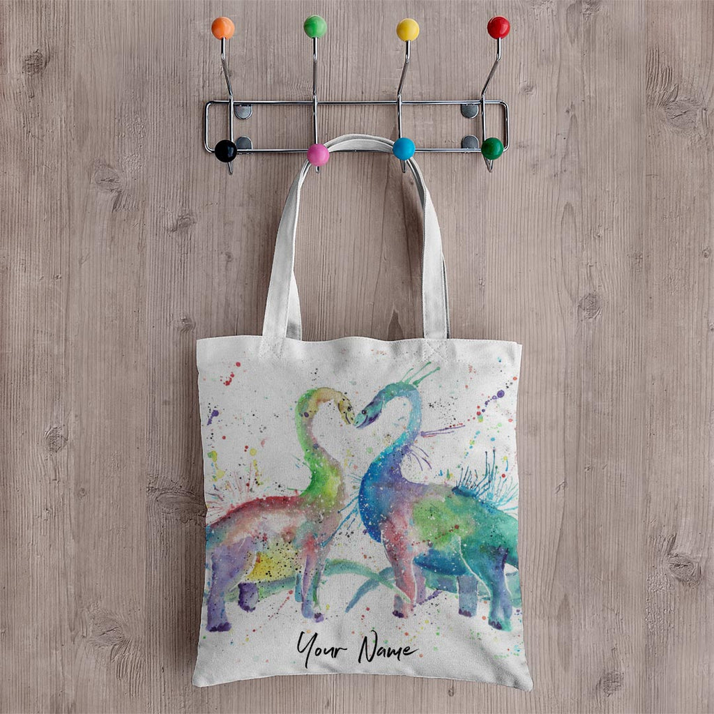 Love Dinosaurs Personalised Canvas Tote Bag