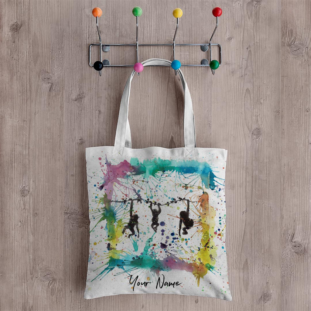 Monkey Business Personalised Canvas Tote Bag