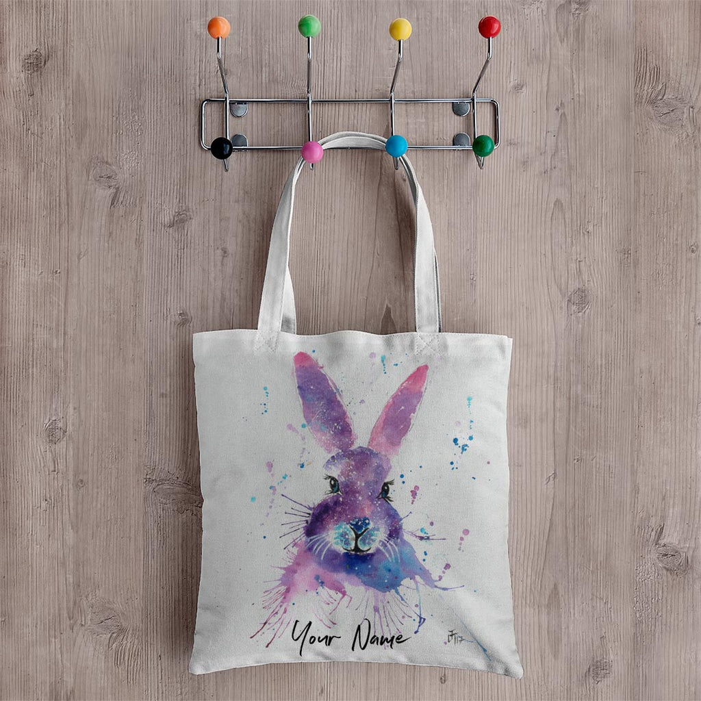 """Berry"" Hare Personalised Canvas Tote Bag"