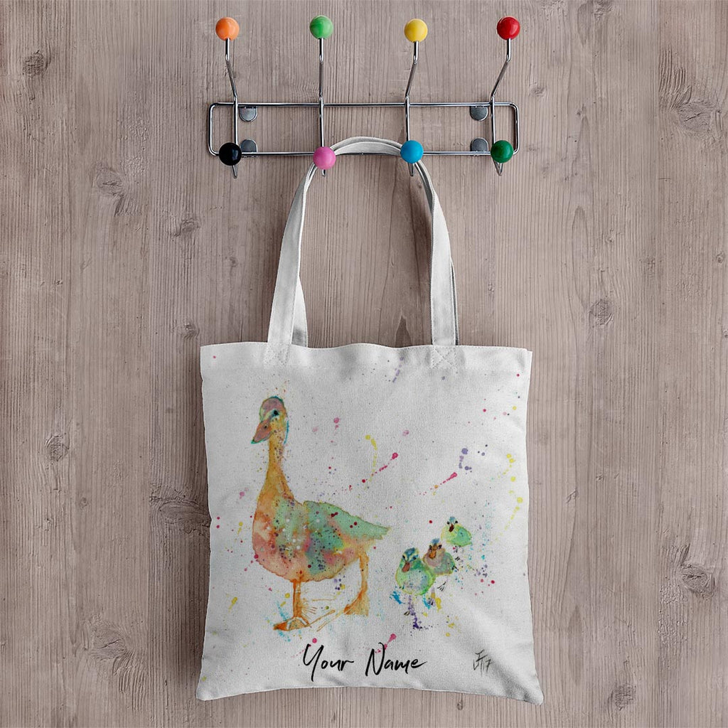 Waddle Personalised Canvas Tote Bag