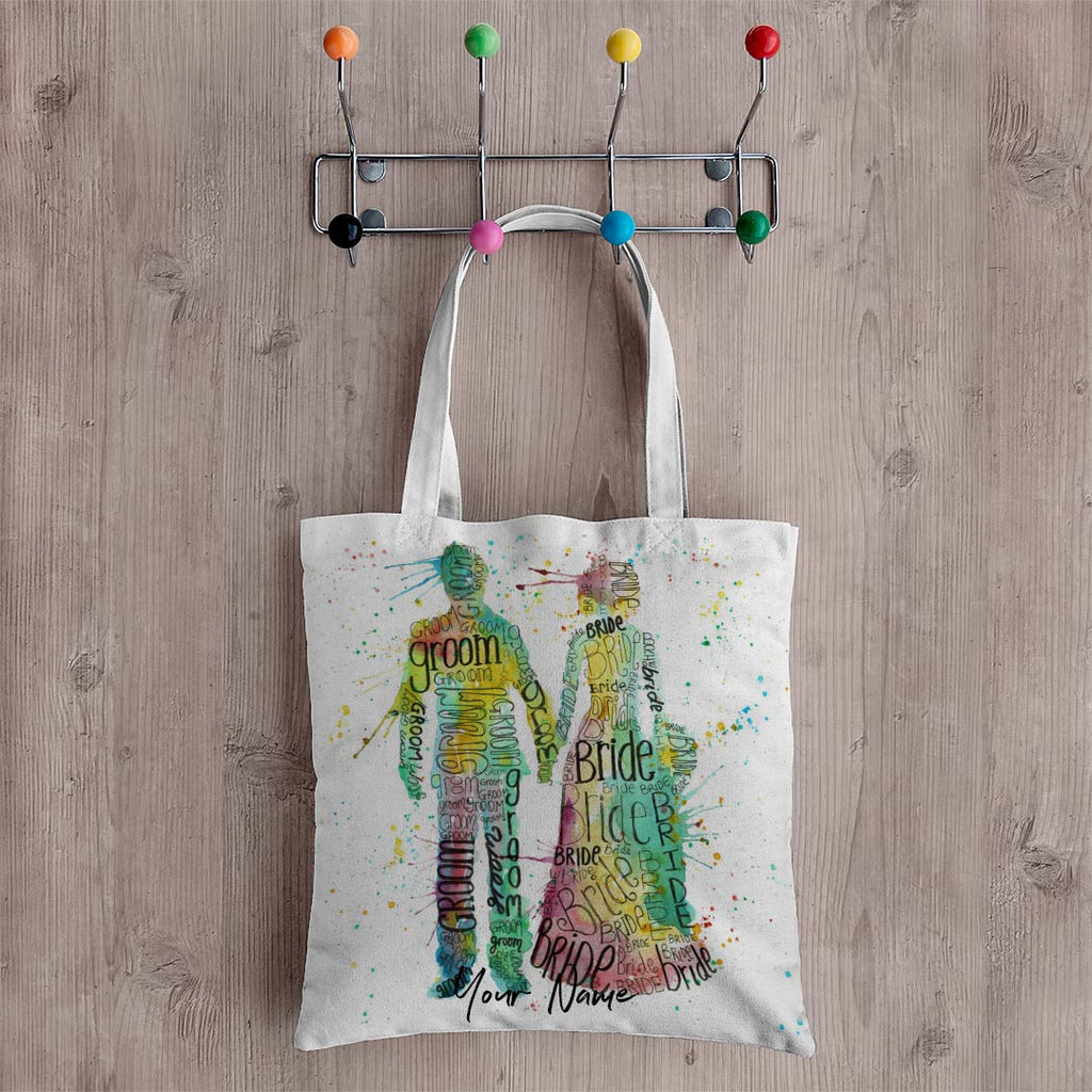 Bride & Groom Personalised Canvas Tote Bag