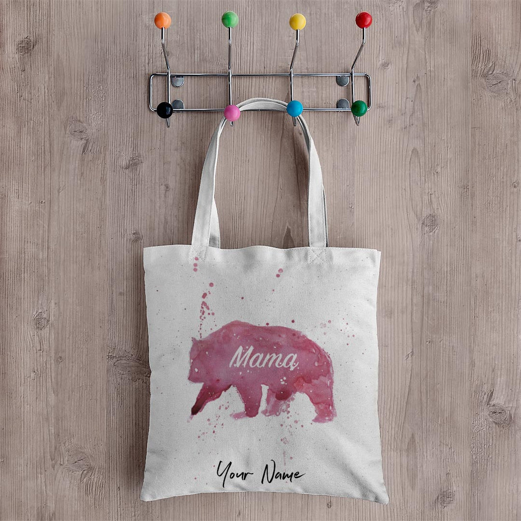 Mama Bear Personalised Canvas Tote Bag