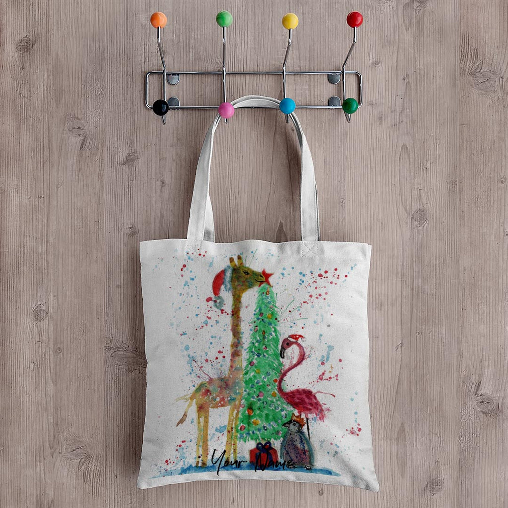 Christmas Pals Personalised Canvas Tote Bag