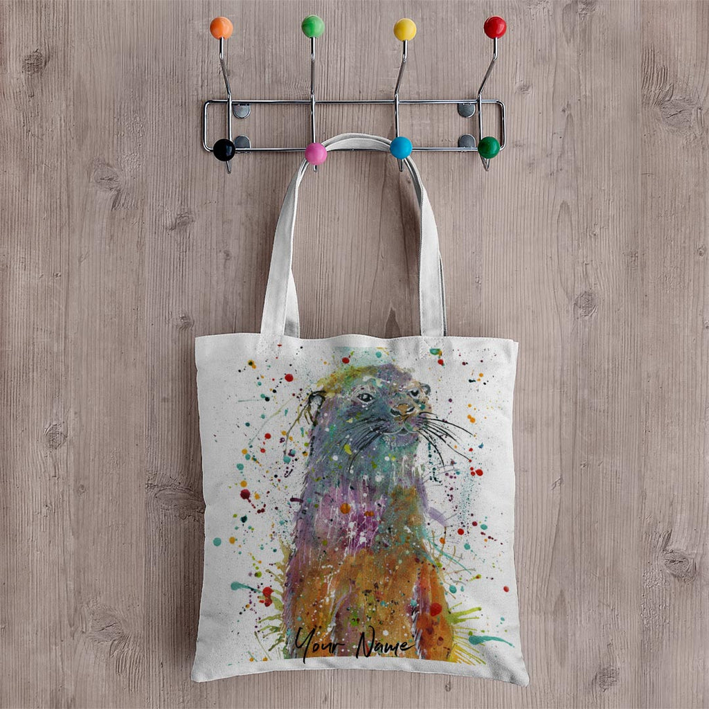 Ray Li Otter Personalised Canvas Tote Bag