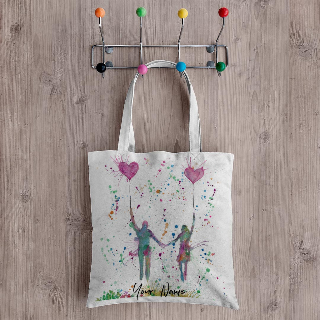 Fly Away With Me Personalised Canvas Tote Bag