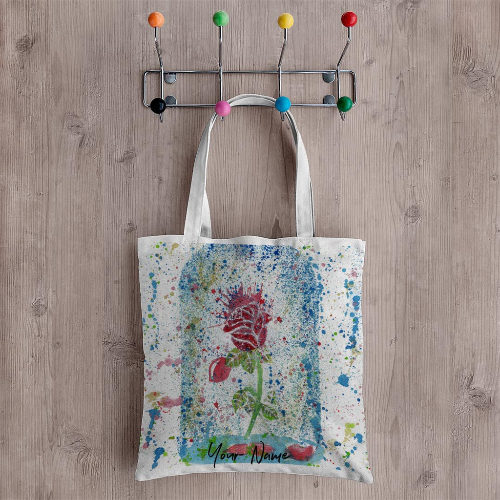 Magic Rose Personalised Canvas Tote Bag