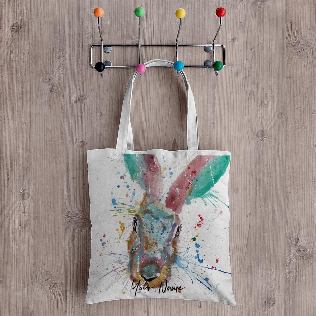 Riddle Hare Personalised Canvas Tote Bag