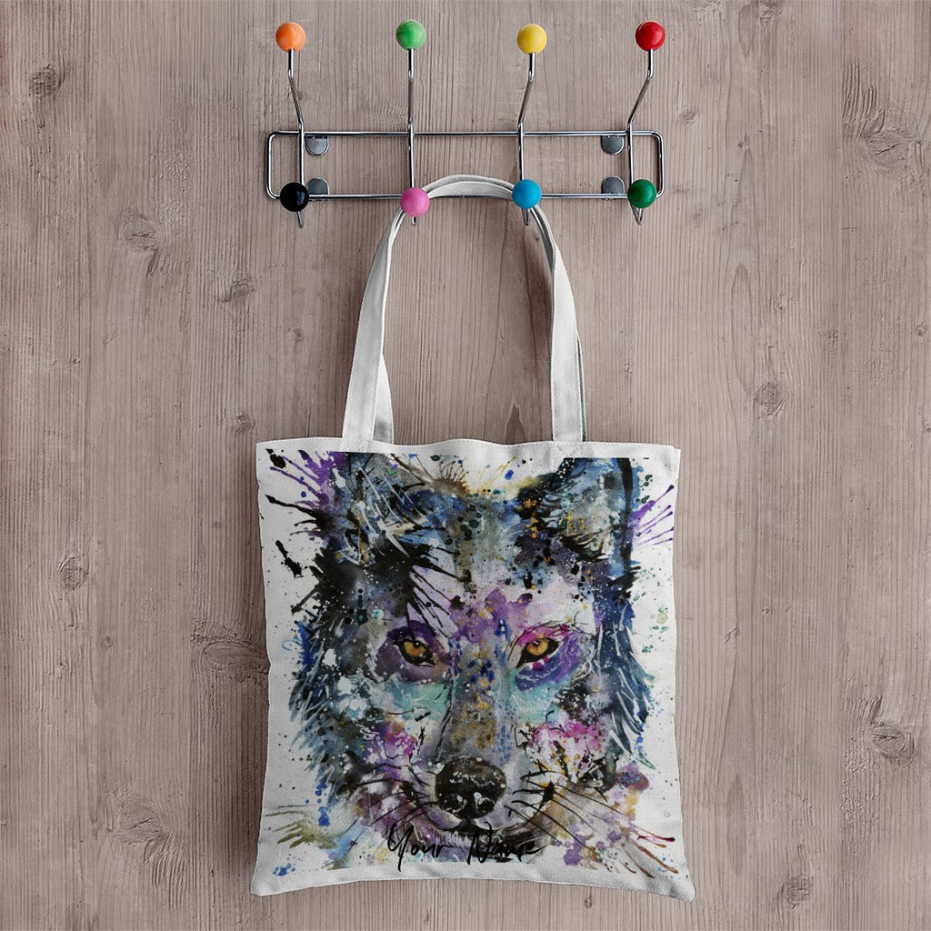 """Howl"" Wolf Personalised Canvas Tote Bag"