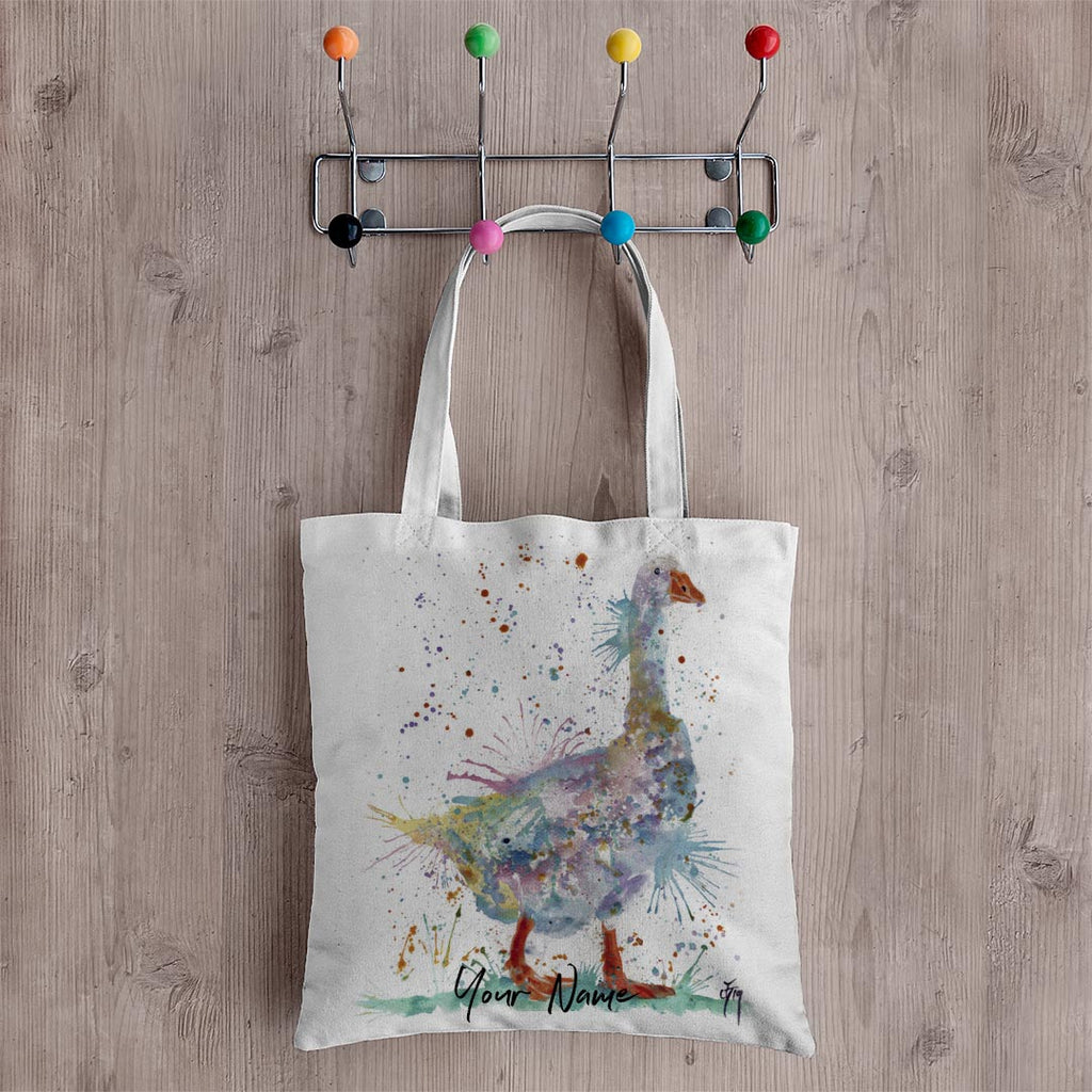 """Gerty"" Goose Personalised Canvas Tote Bag"