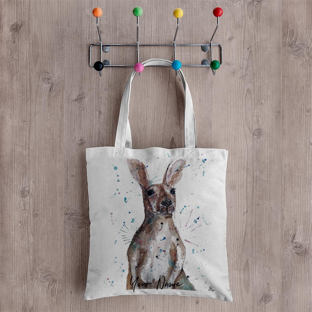 Casey Kangaroo Personalised Canvas Tote Bag