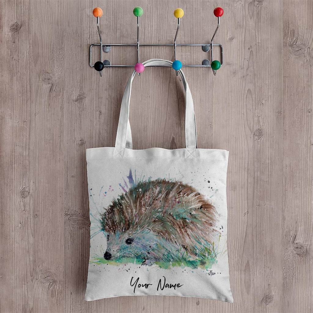 Sweet Hedgehog Personalised Canvas Tote Bag