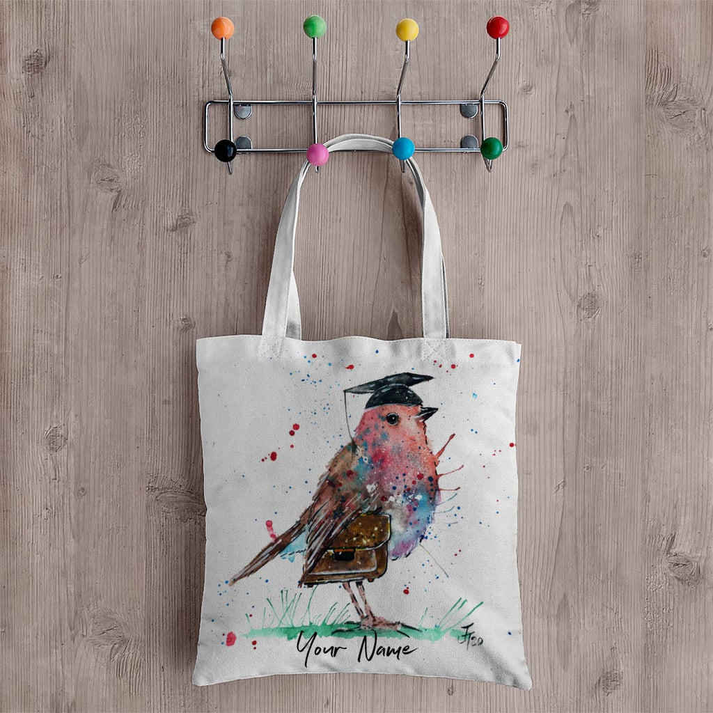 Teach Robin Personalised Canvas Tote Bag