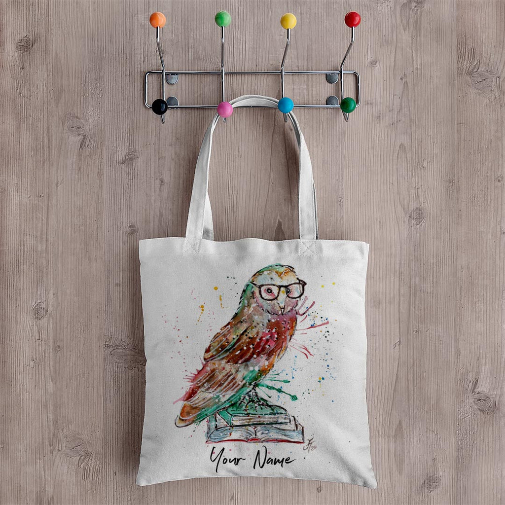 Knowledge Owl Personalised Canvas Tote Bag