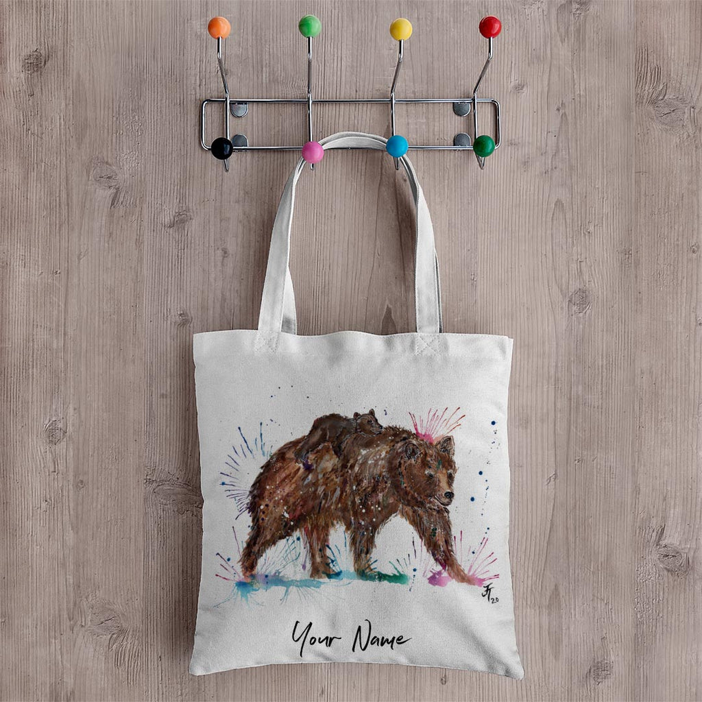 """Precious"" Bears Personalised Canvas Tote Bag"