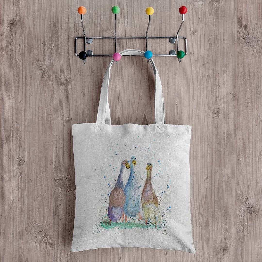 Three Runner Ducks Canvas Tote Bag