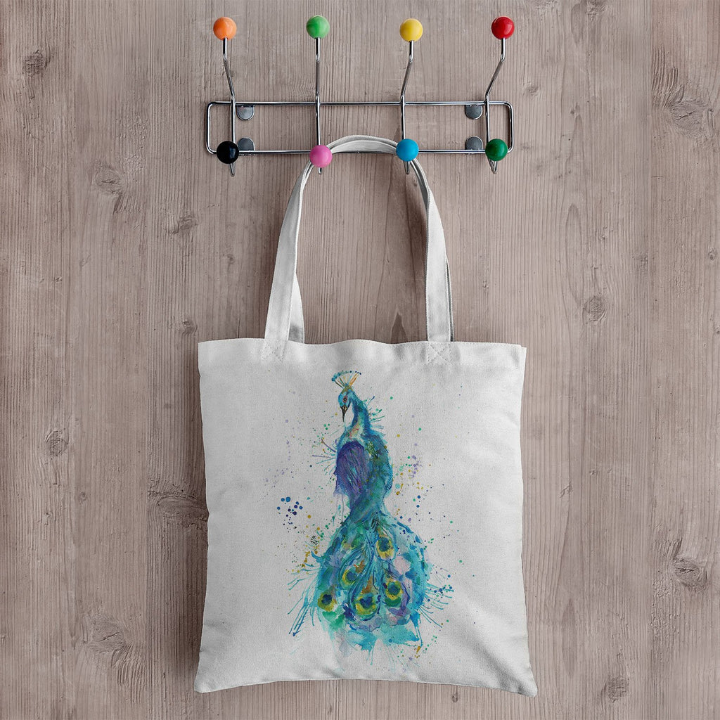 """Prince"" Peacock Canvas Tote Bag"